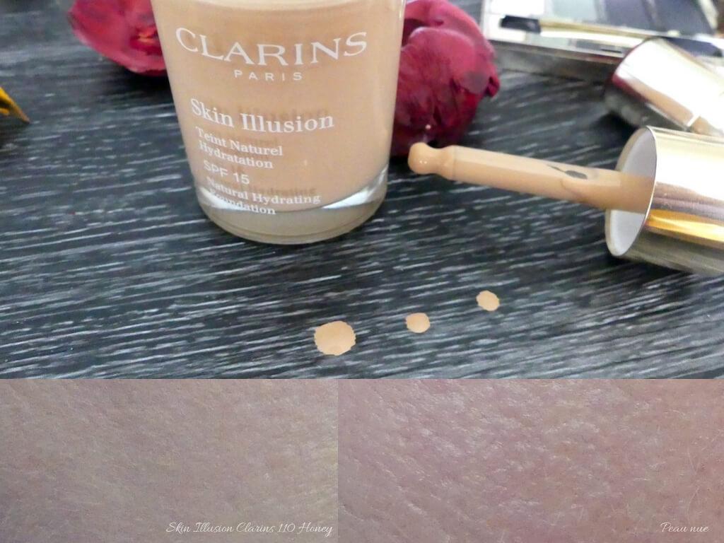 avis-test-skin-illusion-clarins-110-honey-swatch
