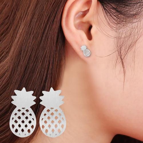bijoux-saint-valentin-boucles-oreille-ananas-argent