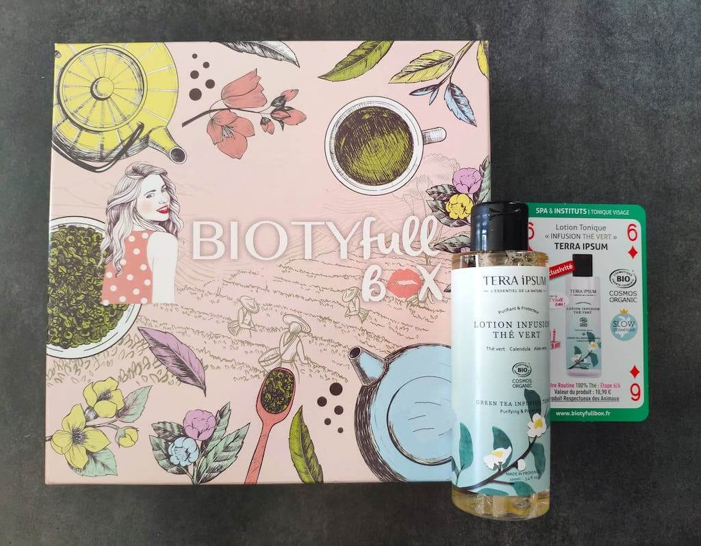 contenu avis biotyfull box septembre 2020