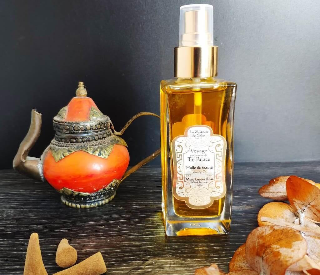 Sur la route du Taj Palace La Sultane De Saba huile de beauté