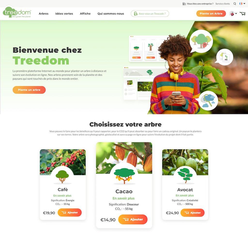 adopter un arbre treedom avis code promo