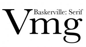 Baskerville font serif