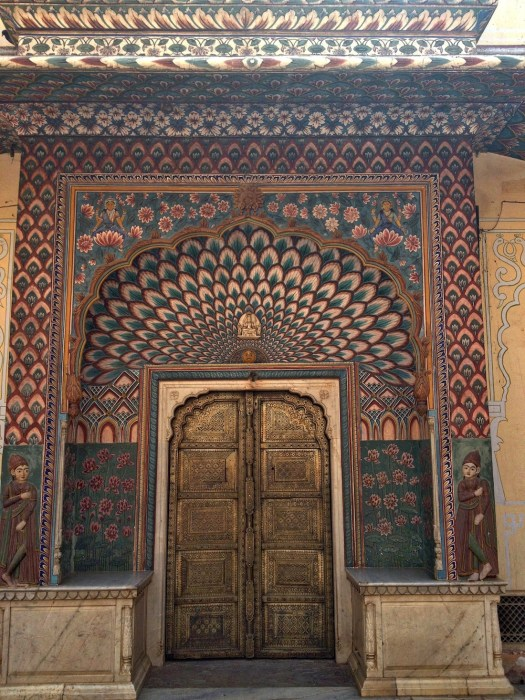 peacock doors at city palace jaipur