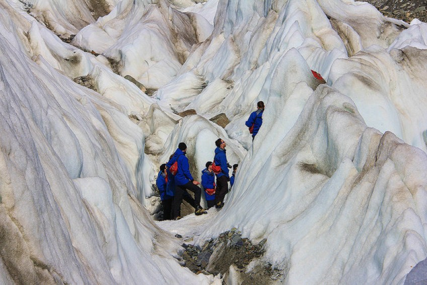 Hikers, Franz Josef Glacier, South Island, New Zealand - Taken by Diann Corbett, 09/2014.