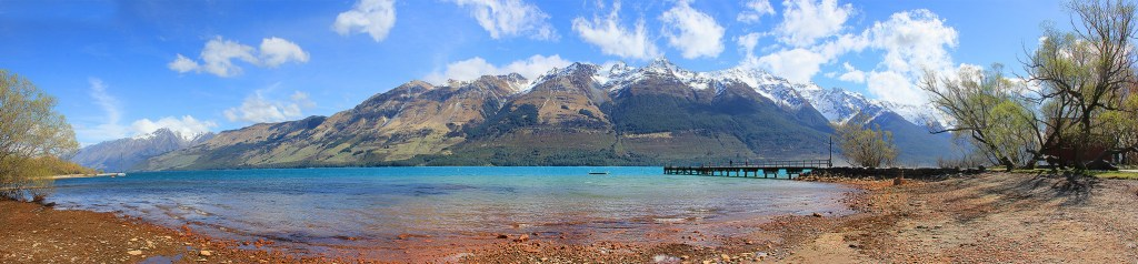 Where tour ends, Lake Wakatipu, Glenorchy, New Zealand - Taken by Diann Corbett, 09/2014.
