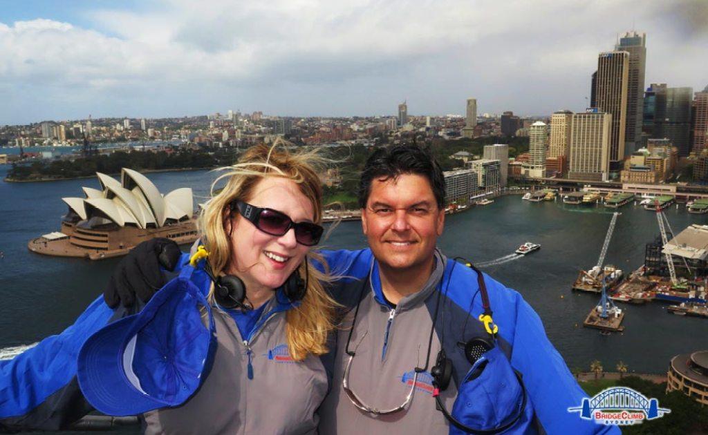 Diann & Tim, Bridge Climb Sydney, Australia - 09/2014.