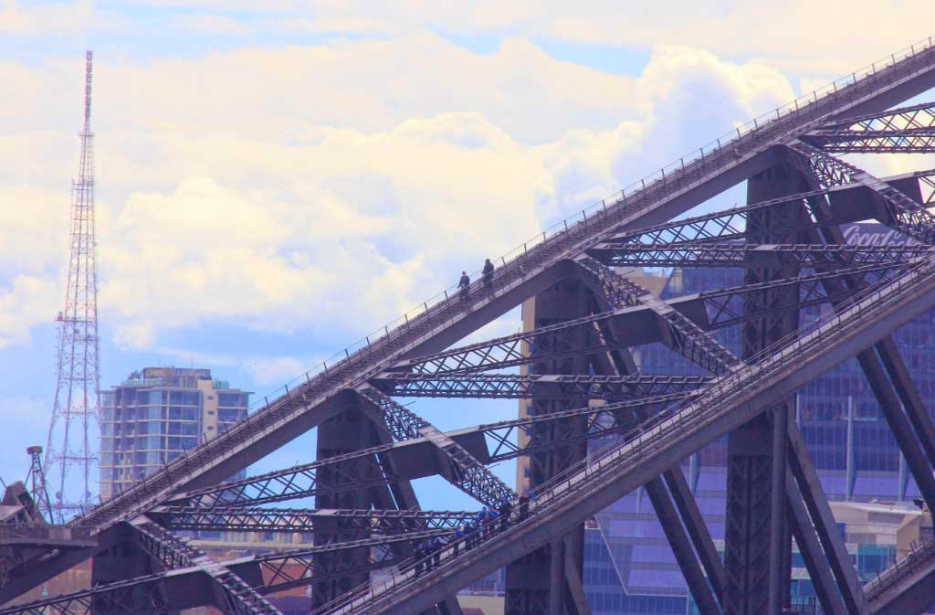 Climbers on the Harbor Bridge, Sydney, Australia - Taken by Diann Corbett - 09/2014.