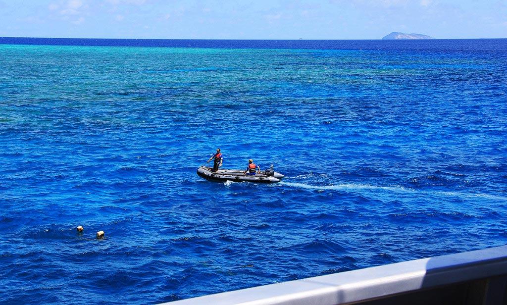 Dive Crew, Scouting Sites, Coral Sea, Australia - Taken by Diann Corbett, 09/2015.