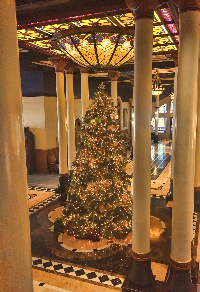 Christmas Tree at the Driscoll Hotel, Austin, Texas - Taken by Diann Corbett, 12/2015.