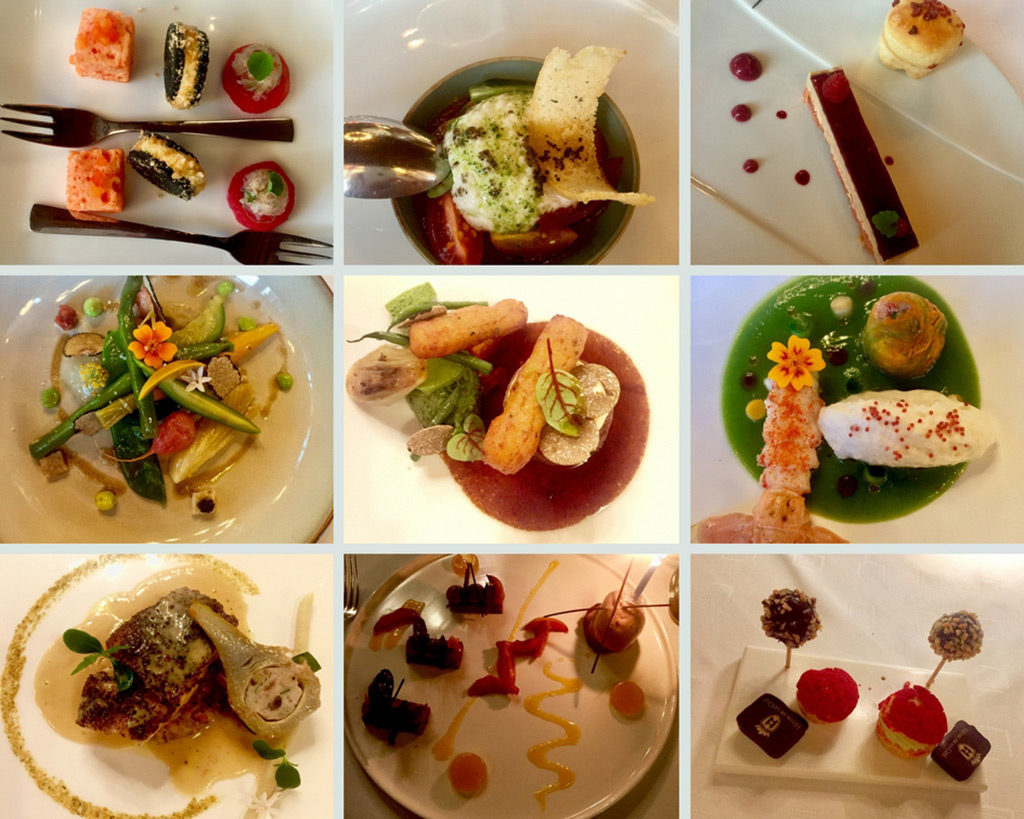 Photo Collage of Exquisite Tasting Menu at Michelin Starred La Barbacane, Carcassonne