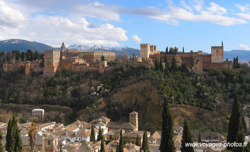 Alhambra from across the valley