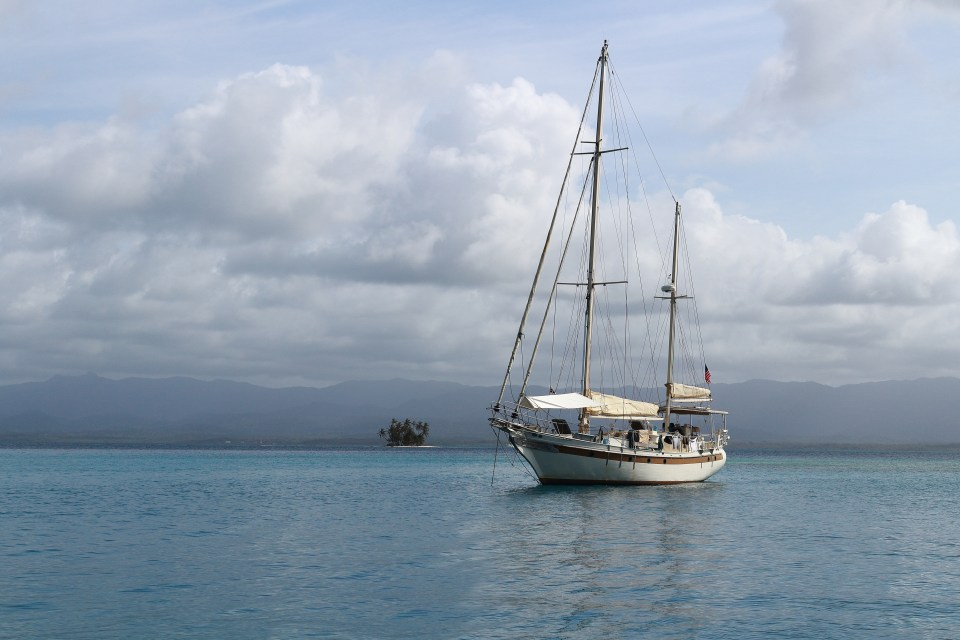 Just a picture of one of the boats we were anchored near