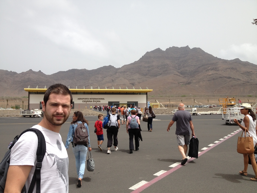 Arrival at the Cesaria Evora airport - São Vicente, Cape Verde
