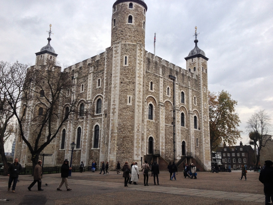 The White Tower inside the Tower of London - London, England