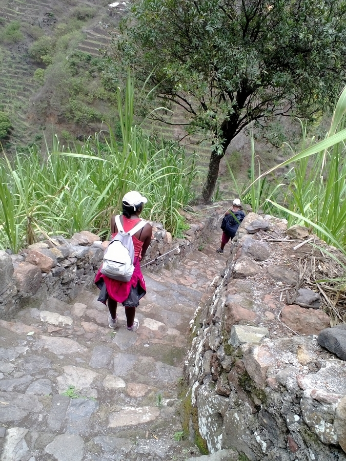 Nath pendant notre trek - Santo Antão, Cap-Vert