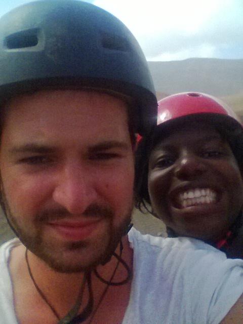 Selfie live from the quad! - São Vicente, Cape Verde