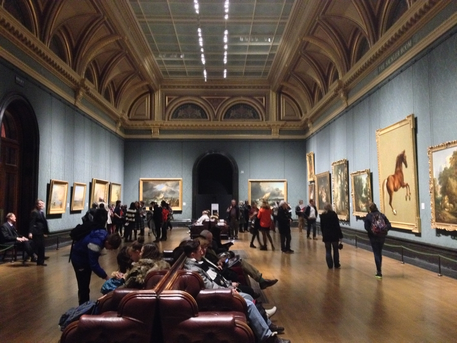 A room of the National Gallery- London, England