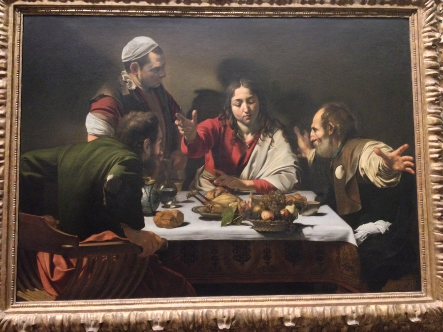 """The Supper at Emmaus"" by Michelangelo Merisi da Caravaggio - National Gallery, London, England"