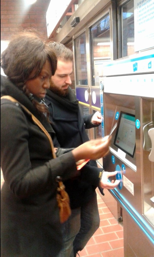 Figuring out how to charge our transport cards - Stockholm, Sweden