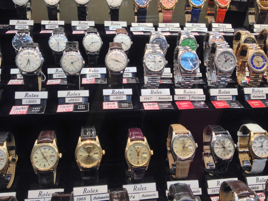 Vintage Rolexes at Burlington Arcade - London, England