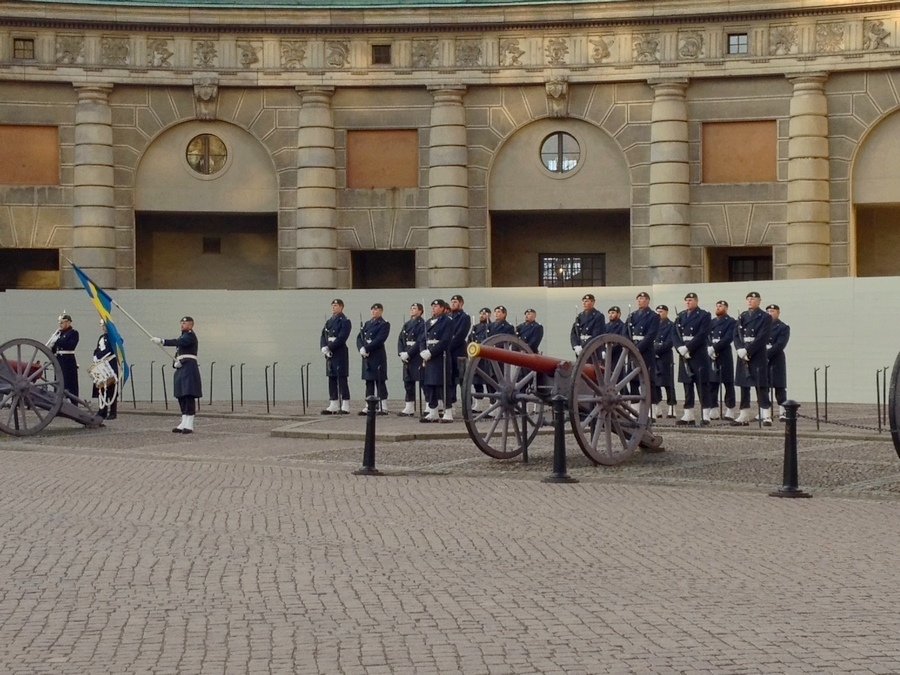 The Changing of the Swedish Guard at the Royal Palace - Stockholm, Sweden