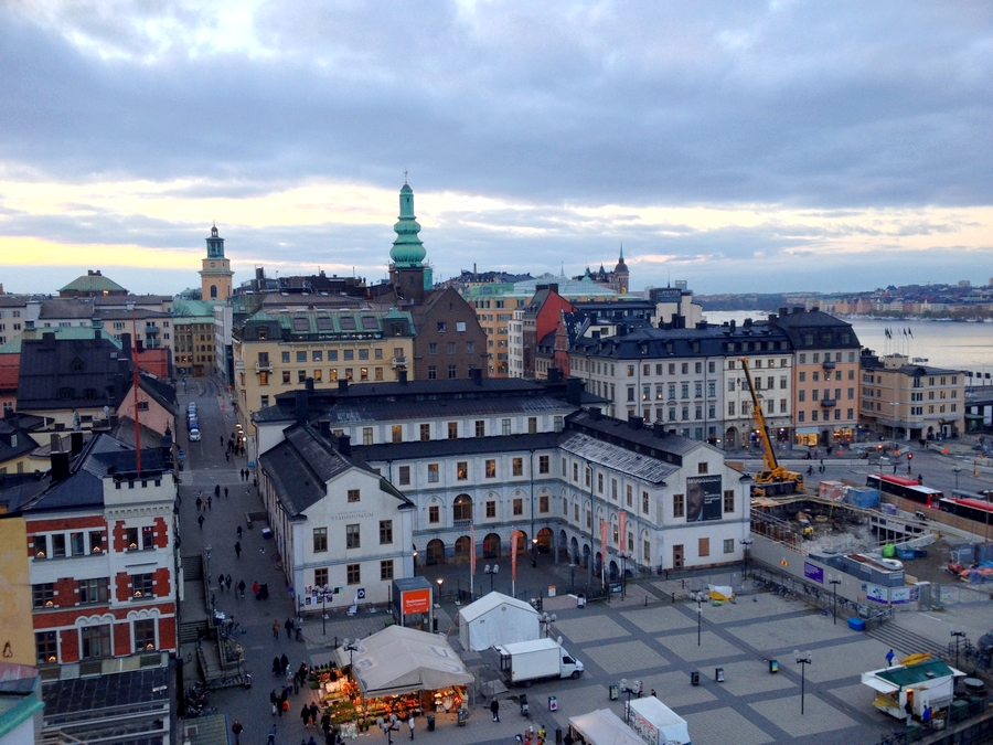 Vue de la ville depuis Katarinahissen - Stockholm, Suède