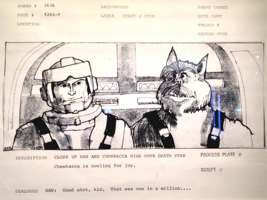 Croquis de Han Solo et Chewbacca - Star Wars Identities, Lyon, France