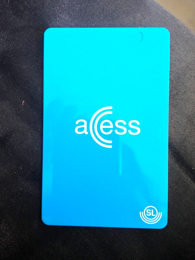Access transport card - Stockholm, Sweden
