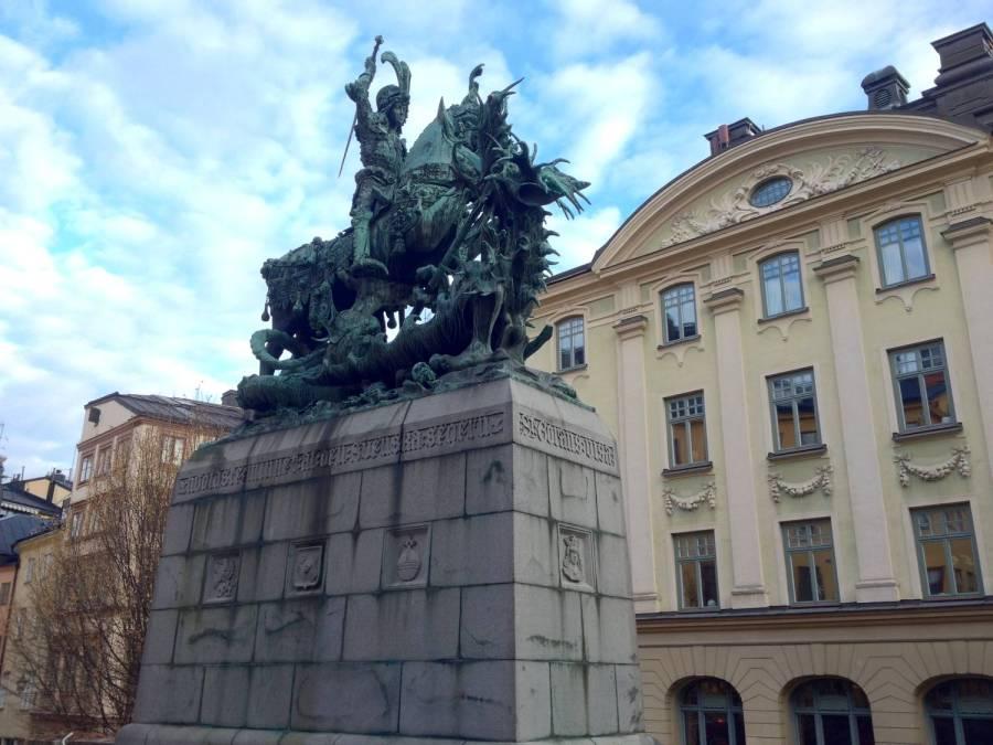 Statue dans Gamla Stan - Stockholm, Suède