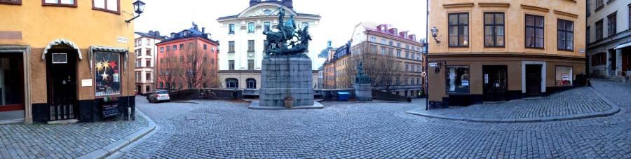Panorama dans Gamla Stan - Stockholm, Suède