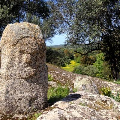 Anthropomorphic stone in Filitosa - Corsica, France