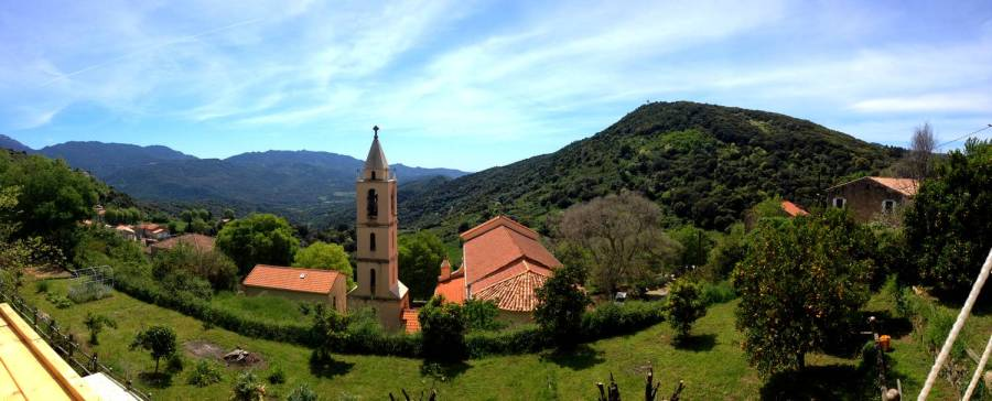 Beautiful view on the Taravo valley at the Villa Guidi - Pila-Canale, Corsica, France