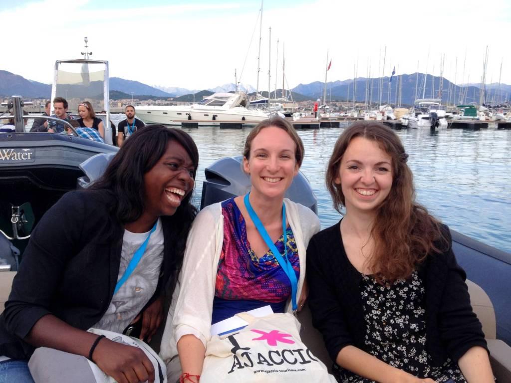 Nath, Amandine et Audrey sur le bateau pour le Sofitel - Ajaccio, Corse