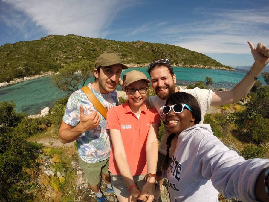 Max, Elisa, Séb and Nath - La Saleccia, Corsica
