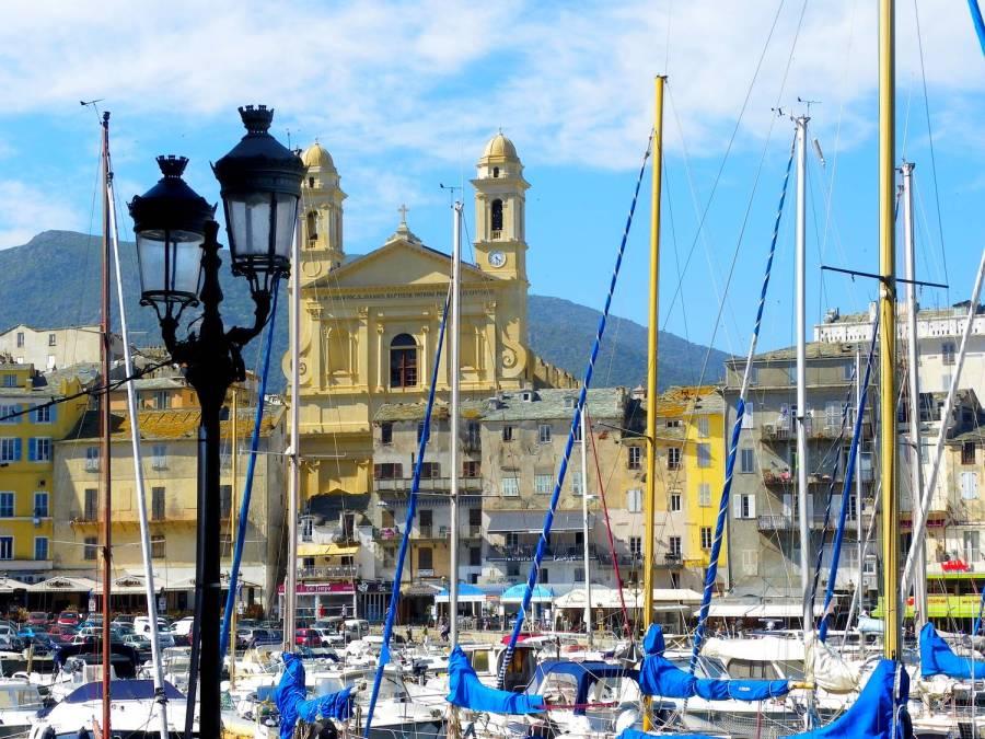 Façade Eglise Saint Jean Baptiste - Bastia, Corse