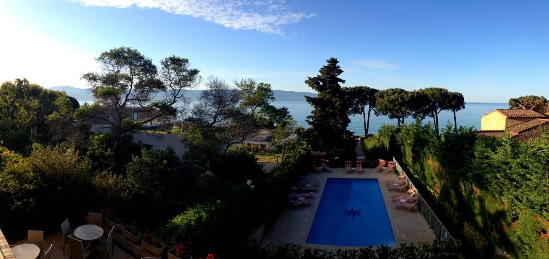 View from our room at the la Pinède hotel - Ajaccio, Corsica
