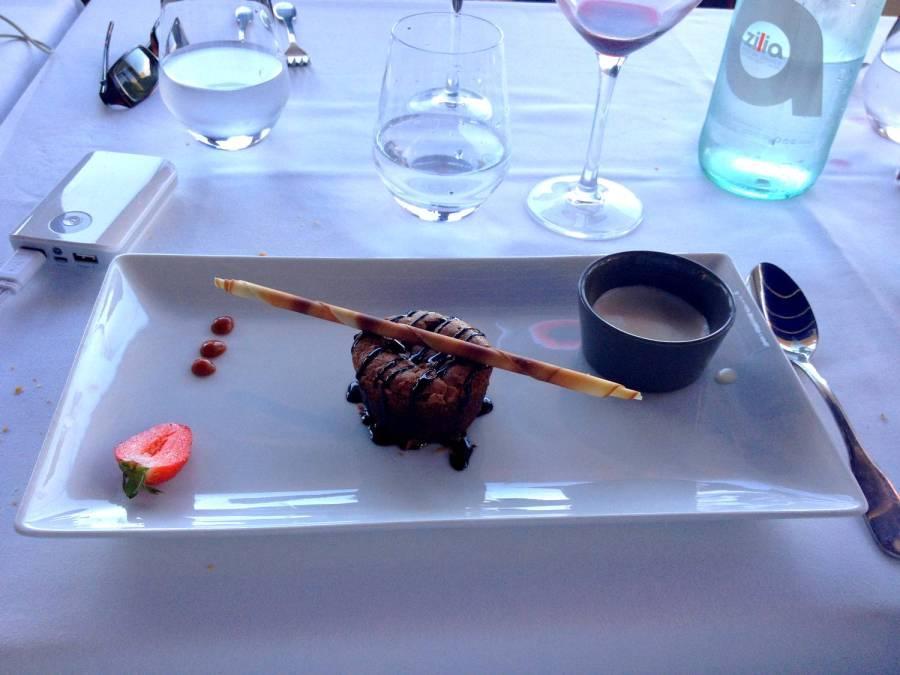 Délicieux dessert à la Marinuccia - Saint-Florent, Corse