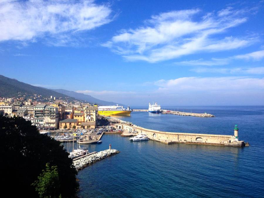 View on the bay and harbour - Bastia, Corsica