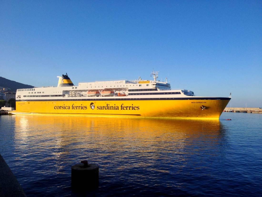 Corsica Ferries boat - Bastia, Corsica