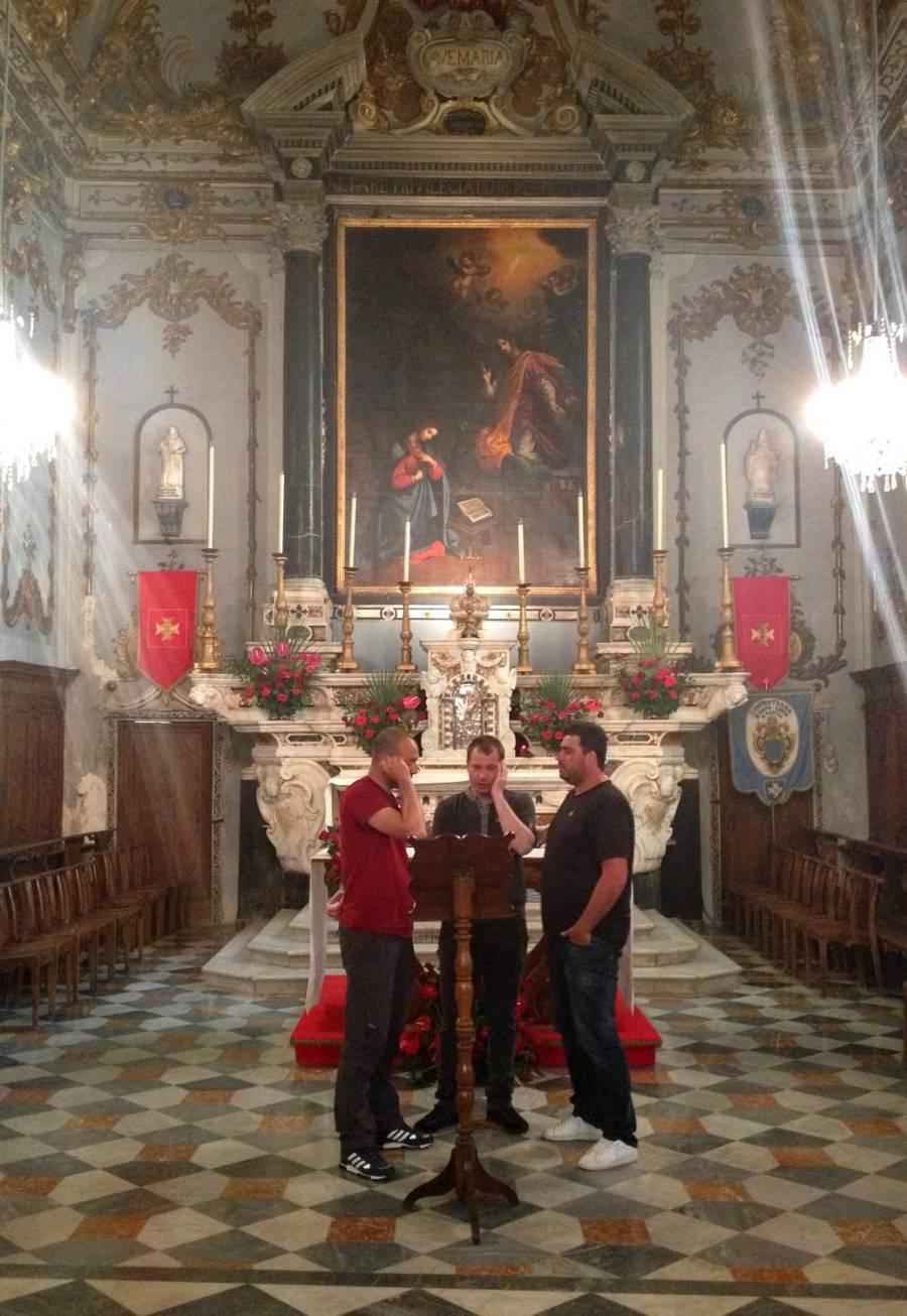 Polyphonic singers L'Attrachju 01 - Sainte Croix church, Corsica