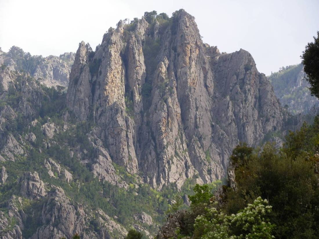 Cliffs overlooking Ghisoni - Corsica