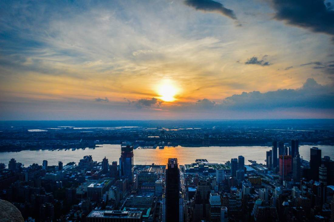 Sunset from the Empire State Building - New York, United States