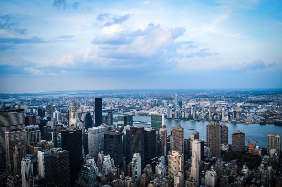 View over New York from the Empire State Building - United States