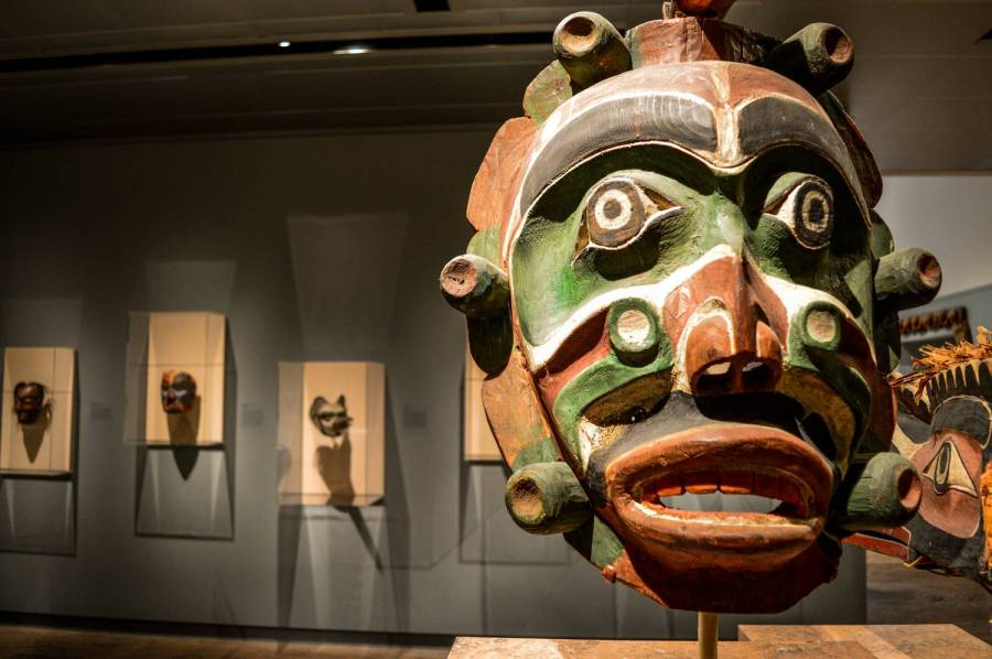 An african mask at the Metropolitan Museum of Art - New York, United States