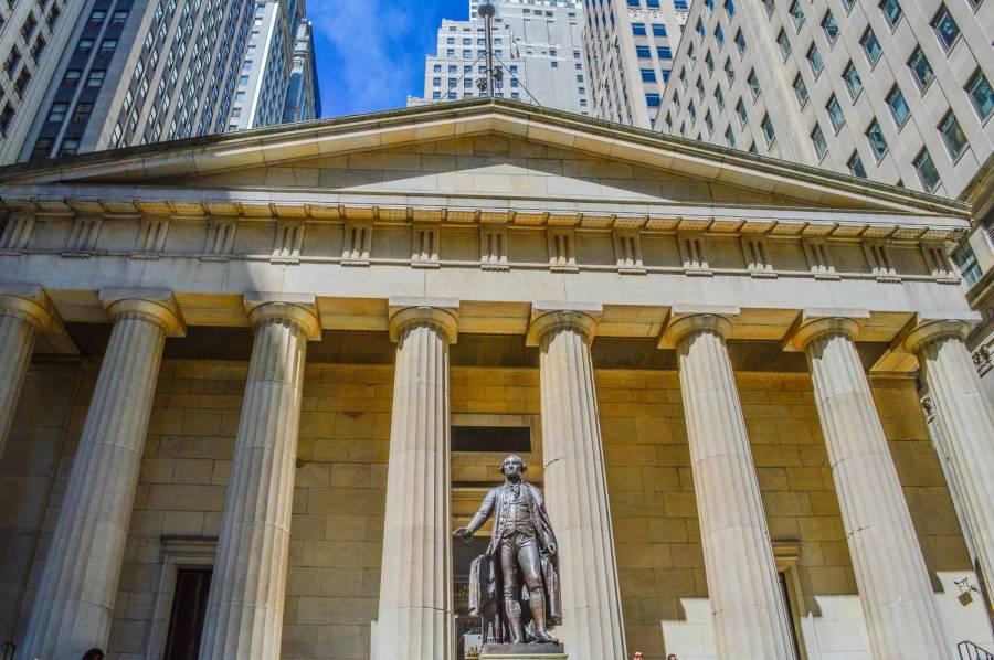 Le Federal Hall à Wall Street - New York, Etats-Unis