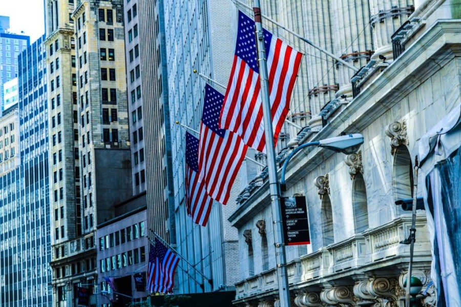 The New York stock exchange in Wall Street - United States