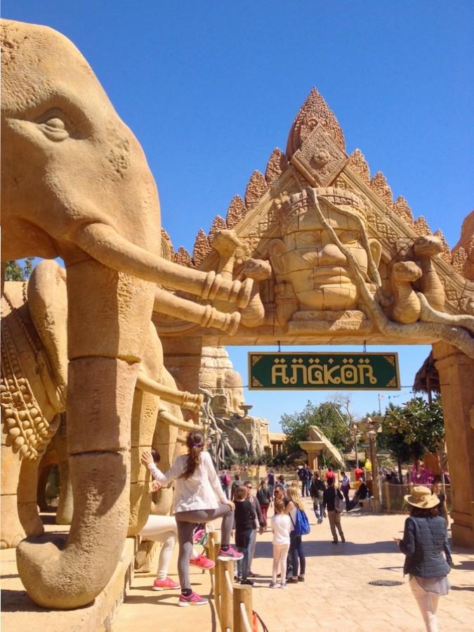 L'entrée d'Angkor à Port Aventura - Salou, Espagne