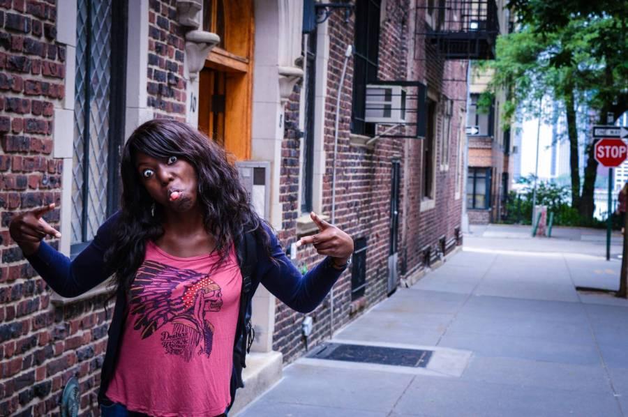 Goofing around in Brooklyn Heights - New York, USA