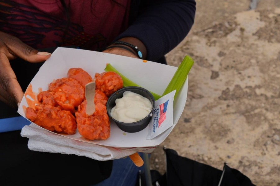 Very spicy wings from Dan and John's Wings at Smorgasburg - New York, USA