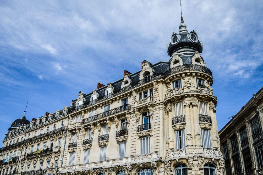 Haussmanian building on the Place de la Comédie - Montpellier, France